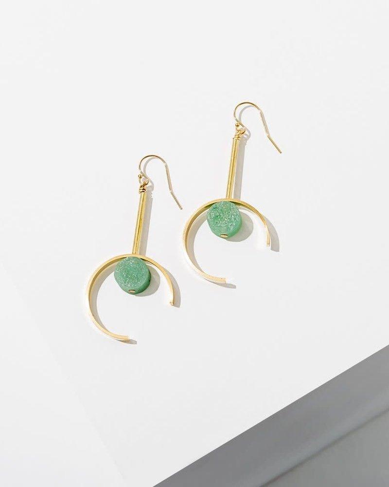Larissa Loden Larissa Loden Green Aventurine 'Santorini' Earrings