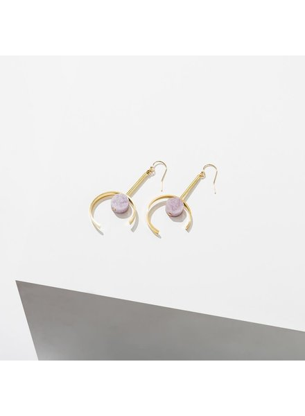 Larissa Loden Amethyst 'Santorini' Earrings
