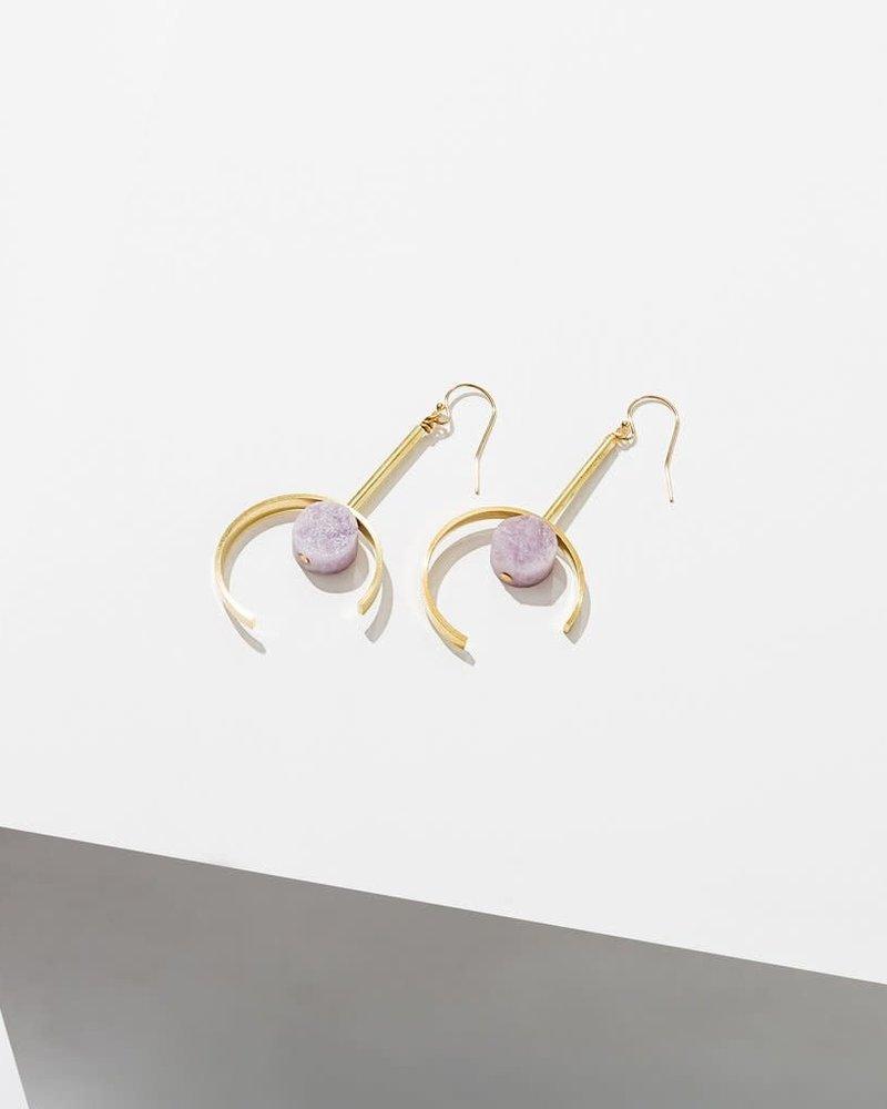 Larissa Loden Larissa Loden Amethyst 'Santorini' Earrings