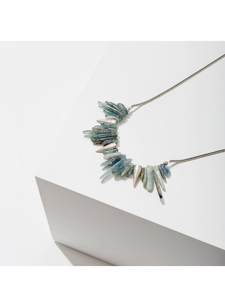 Larissa Loden Silver 'Kyanite' Spike Necklace