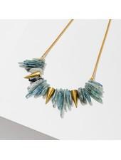 Larissa Loden Brass 'Kyanite' Spike Necklace