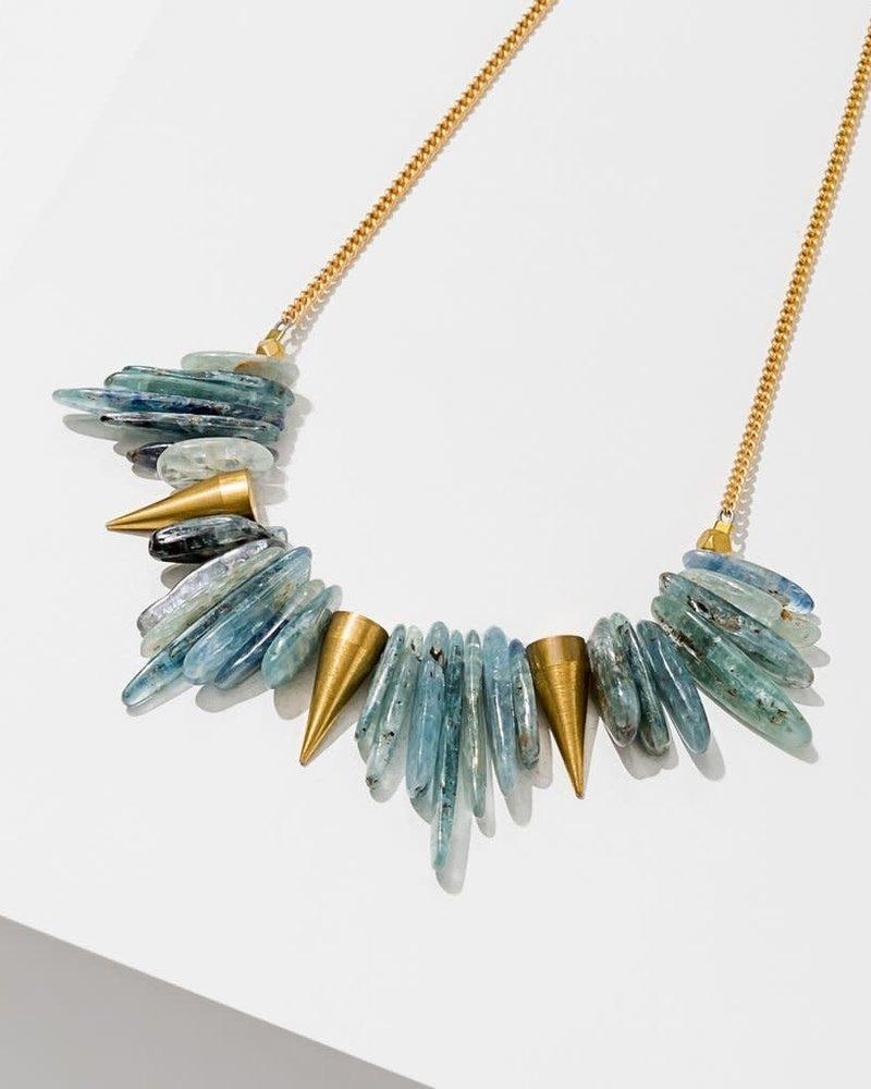 Larissa Loden Larissa Loden Brass 'Kyanite' Spike Necklace