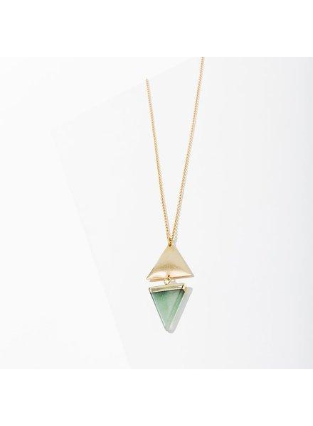 Larissa Loden Green Aventurine 'Echo' Necklace