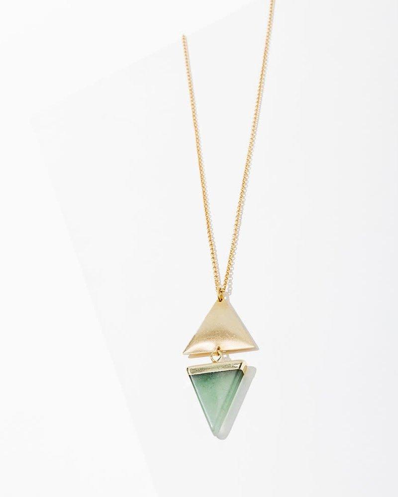 Larissa Loden Larissa Loden Green Aventurine 'Echo' Necklace