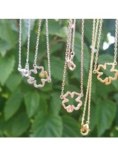 Must Have Clover Cutout Dainty Necklace (More Colors)