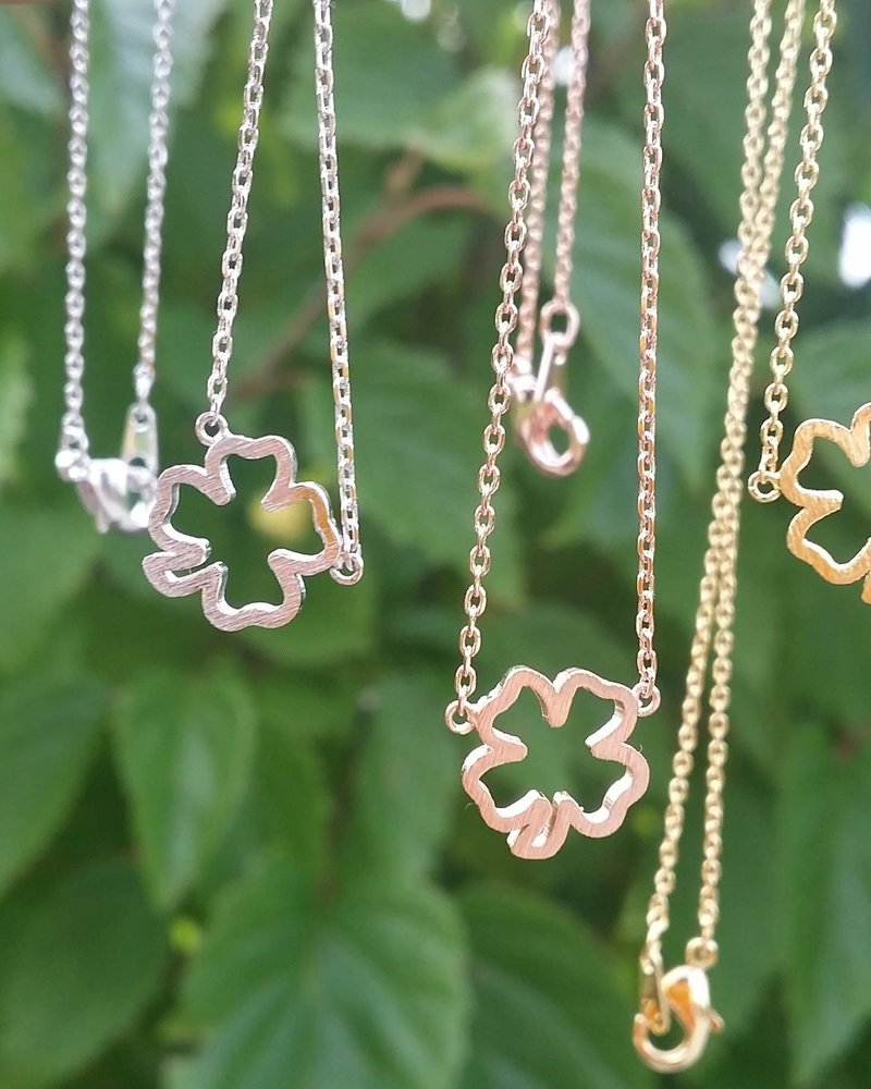 Must Have Must Have Clover Cutout Dainty Necklace