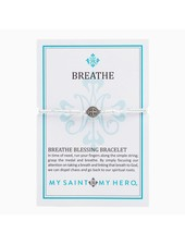 My Saint My Hero Breathe Blessing Bracelet in Silver (More Colors)