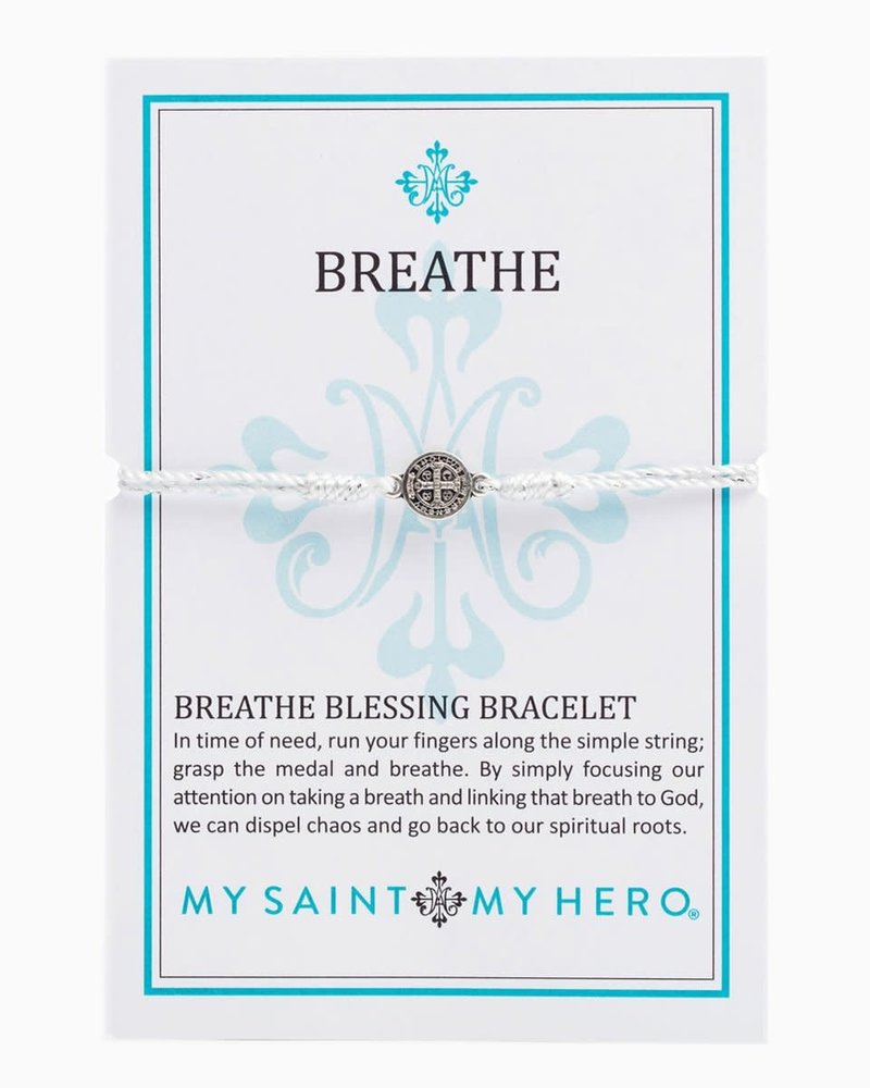 My Saint My Hero My Saint My Hero Silver Breathe Blessing Bracelet