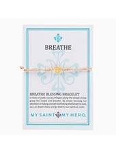 My Saint My Hero Breathe Blessing Bracelet in Gold (More Colors)
