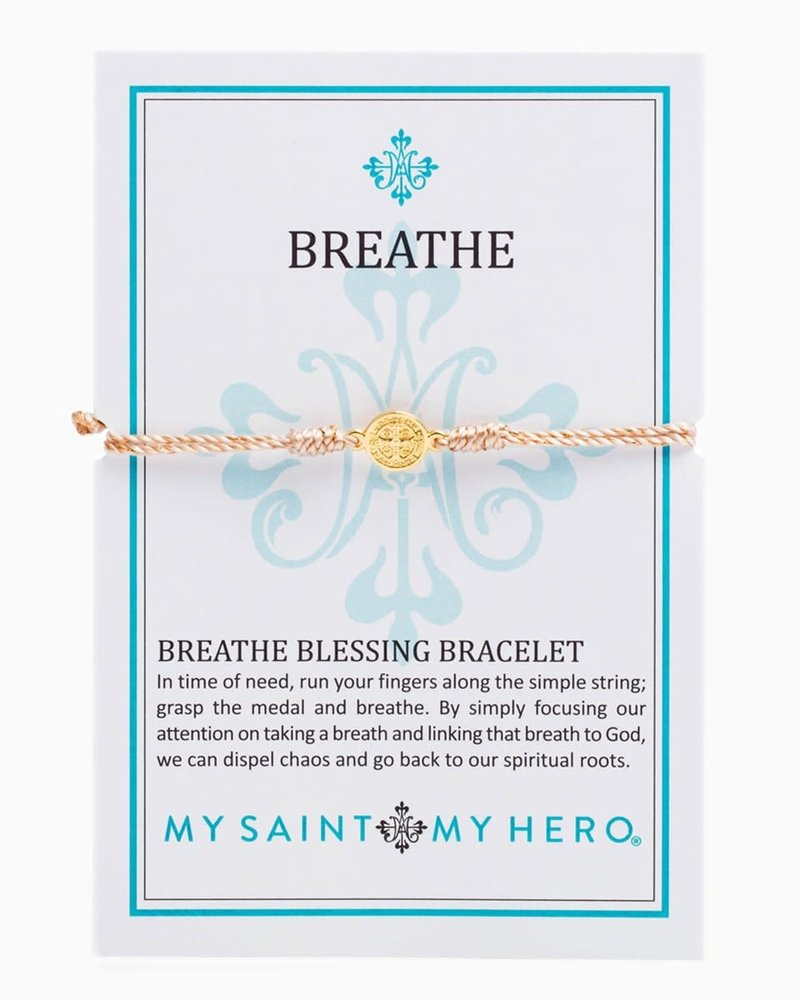 My Saint My Hero My Saint My Hero Gold Breathe Blessing Bracelet