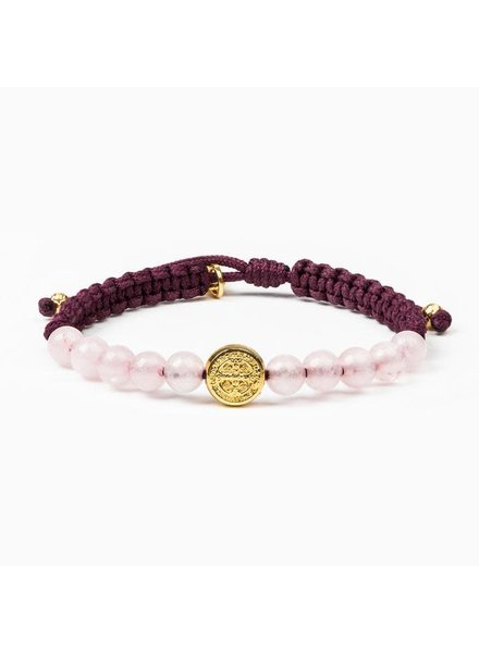 My Saint My Hero 'Wake Up & Pray' Meditation Bracelet in Gold (More Colors)
