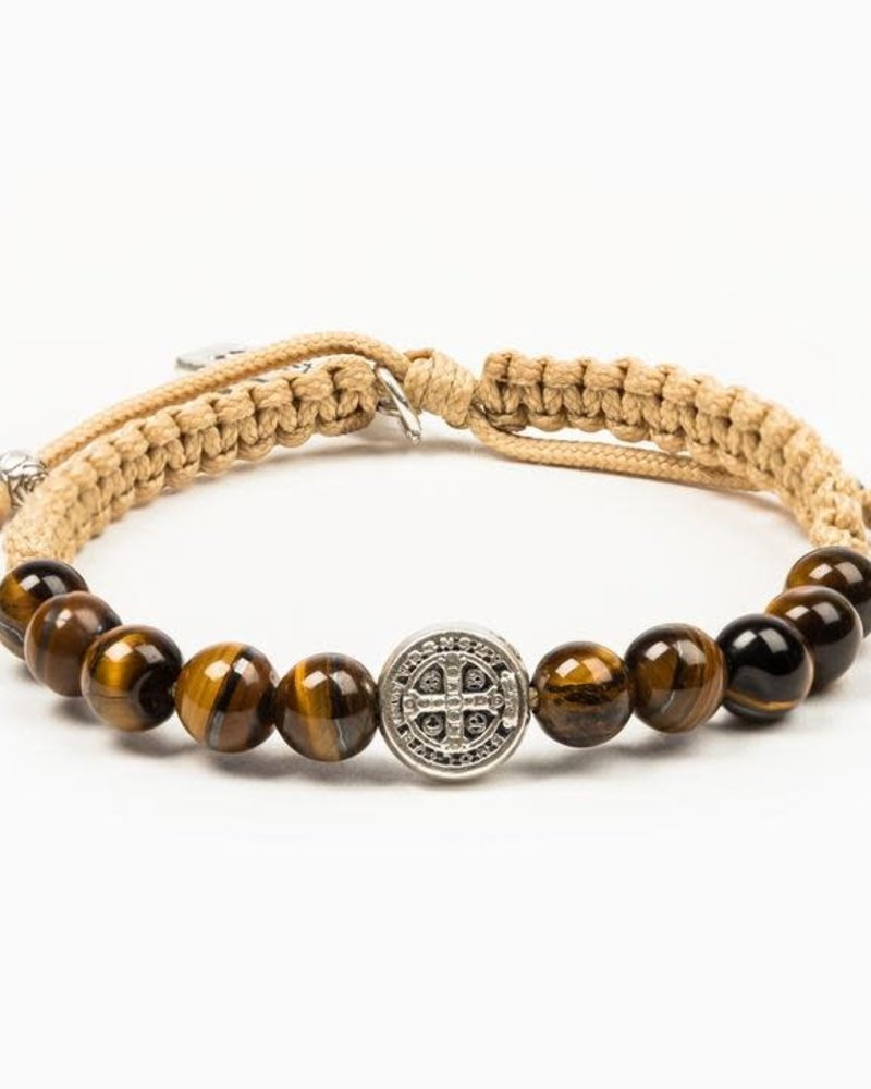 My Saint My Hero My Saint My Hero Silver 'Wake Up & Pray' Meditation Bracelet