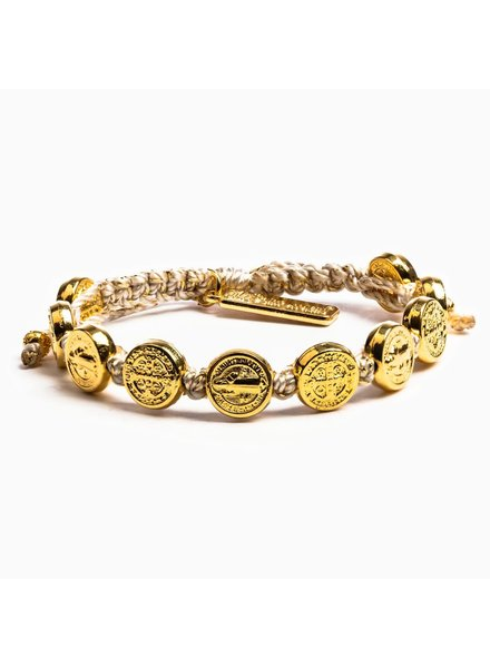 My Saint My Hero Blessing Bracelet in Gold (More Colors)