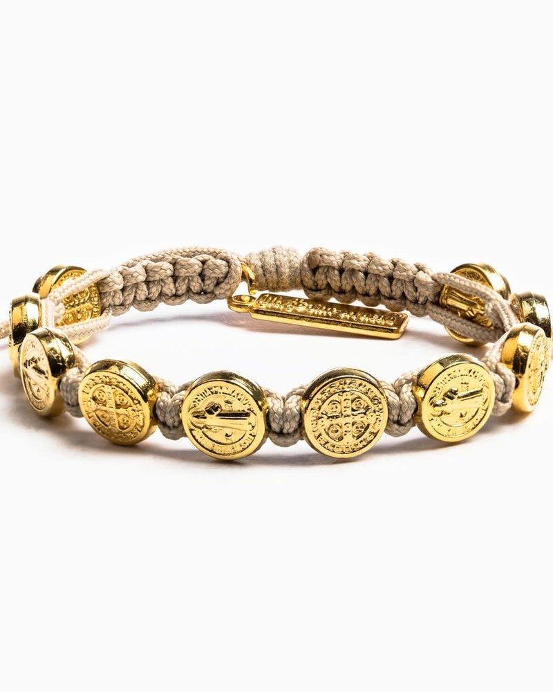 My Saint My Hero My Saint My Hero Gold Benedictine Blessing Bracelet