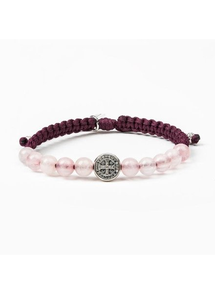 My Saint My Hero 'Wake Up & Pray' Meditation Bracelet in Silver (More Colors)