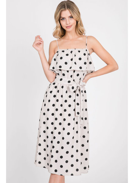 Paper Crane '101 Dalmatians' Belted Dress (Small) **FINAL SALE**