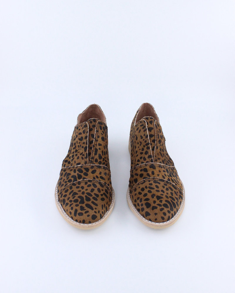 All Black All Black 'Cowman' Fur Cutout Shoe in Leopard