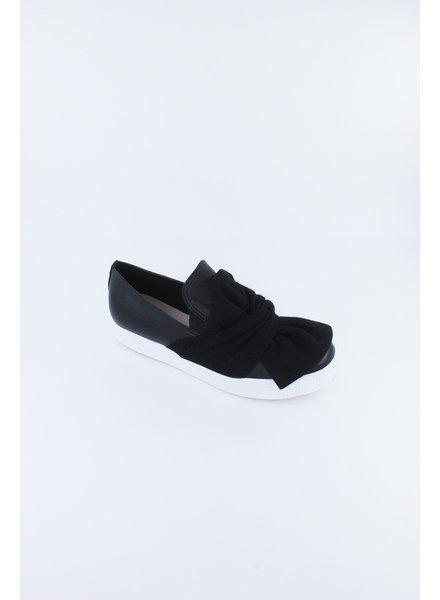 All Black Bowtie Sneaker