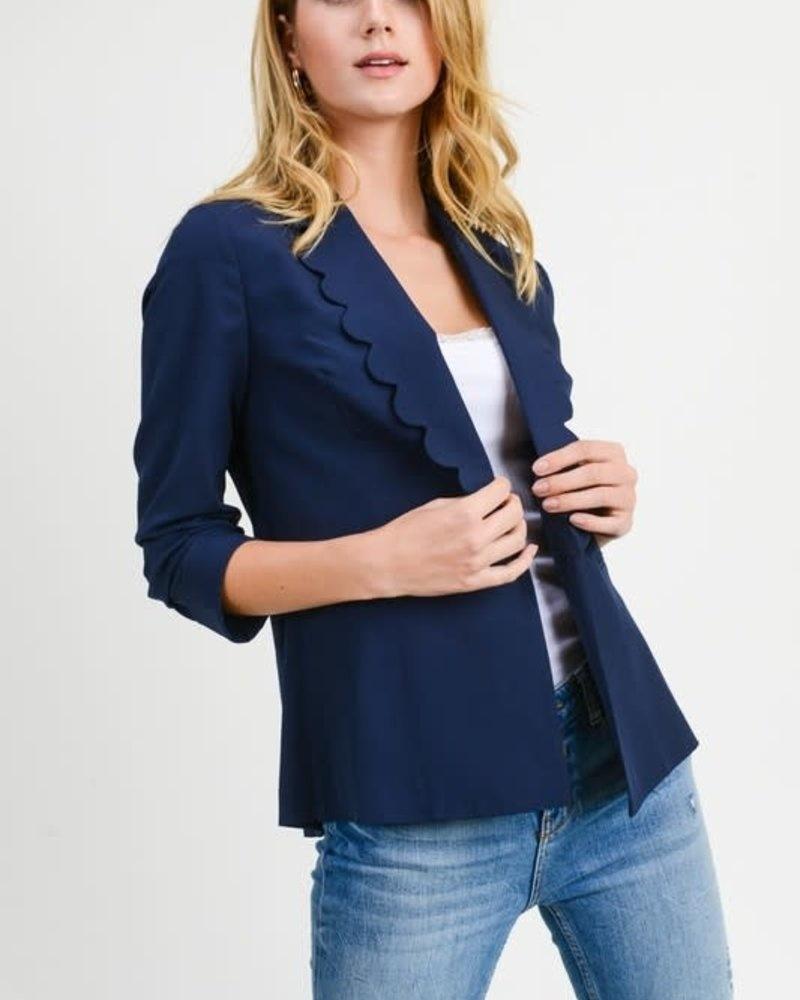 scalloped blazer