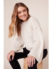 BB Dakota 'Retro Active' Cable Knit Sweater