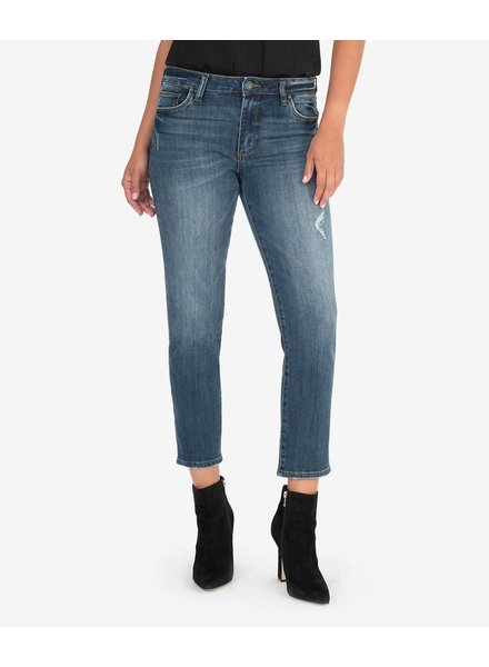 Kut from the Kloth 'Reese' High Rise Straight Leg Jeans in Enterprise