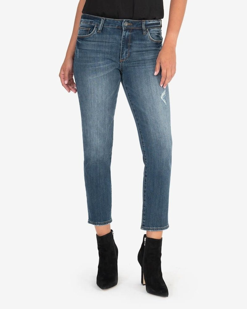 Kut from the Kloth Kut from the Kloth 'Reese' High Rise Straight Leg Jeans in Enterprise **FINAL SALE**