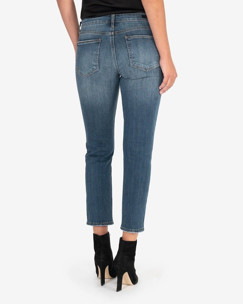 Kut from the Kloth Kut from the Kloth 'Reese' High Rise Straight Leg Jeans in Enterprise