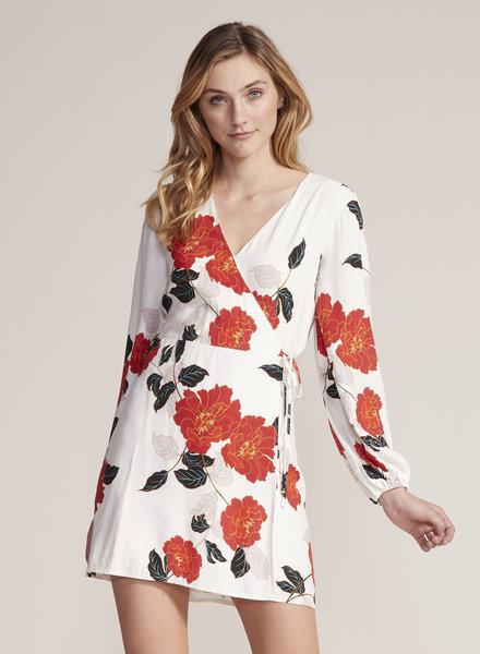 Cupcakes & Cashmere 'Athens' Floral Wrap Dress