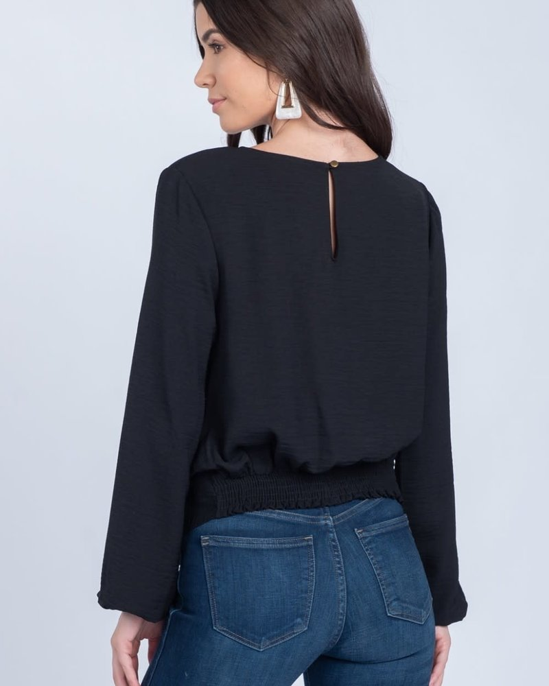 Everly Everly Black 'Twisted Waist' Top