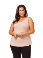 Dex Plus 'Bare Your Curves' Reversible Tank in Nude