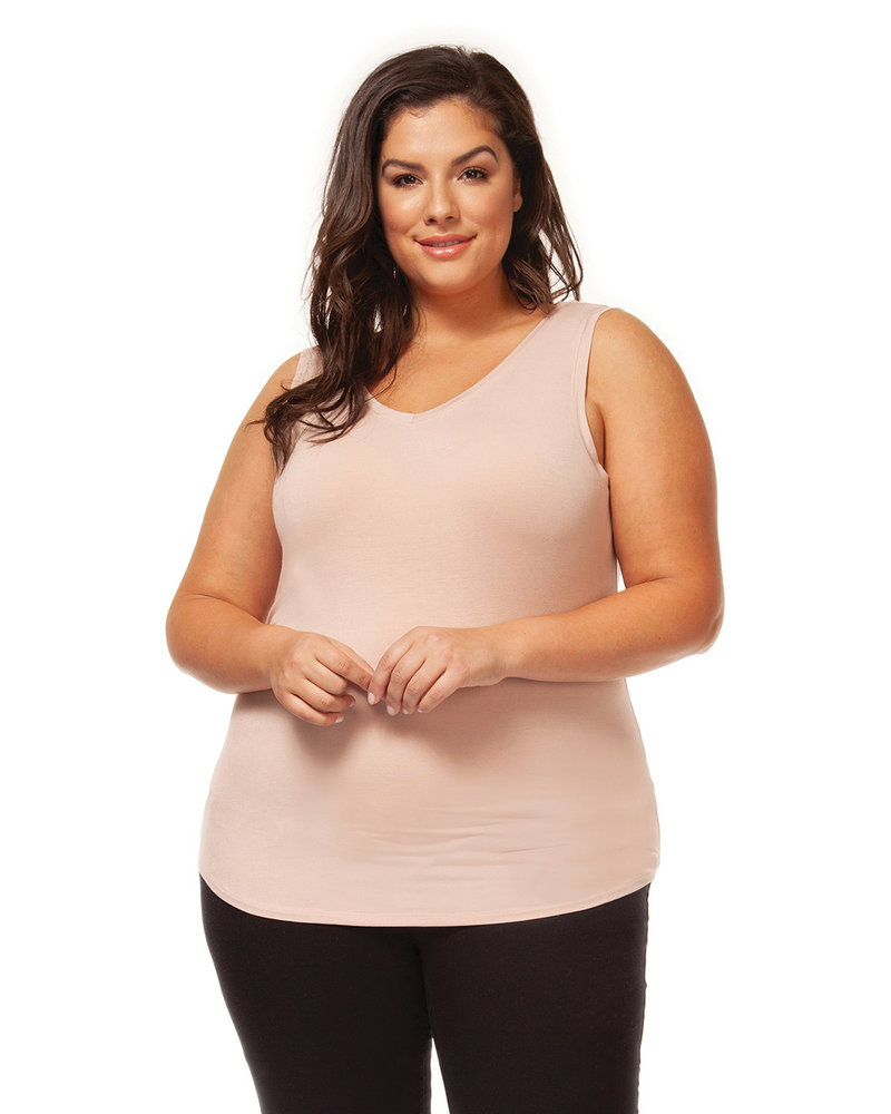 Dex Plus Dex Plus Nude 'Bare Your Curves' Reversible Tank