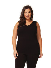 Dex Plus 'Bare Your Curves' Reversible Tank in Black