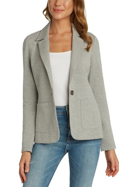Matty M Knit Notch Collar Blazer