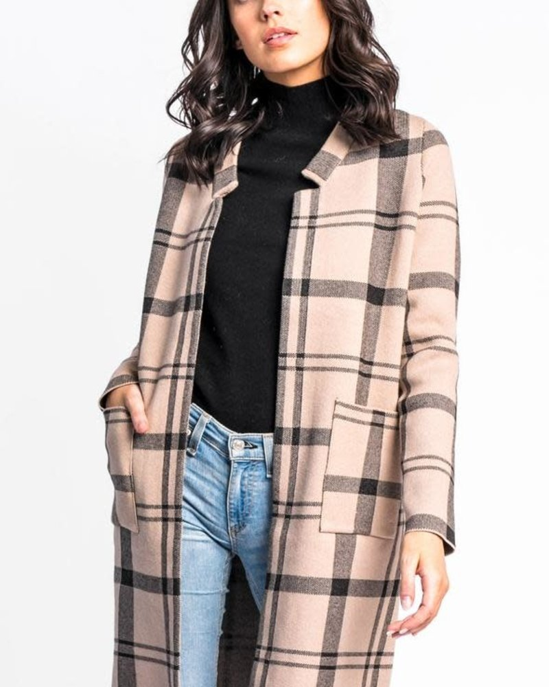 Pink Martini Collection Pink Martini 'Check Her Out' Sweater Jacket