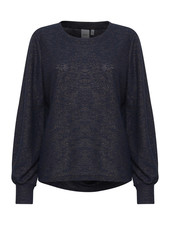 ICHI 'Zini' Lurex Sweater Top