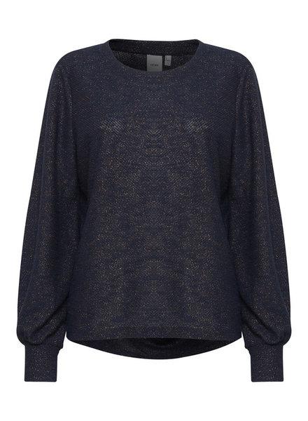 ICHI 'Zini' Lurex Sweater Top