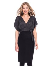 Seraphine Maternity 'Linette' V-Back Kimono Dress **FINAL SALE**