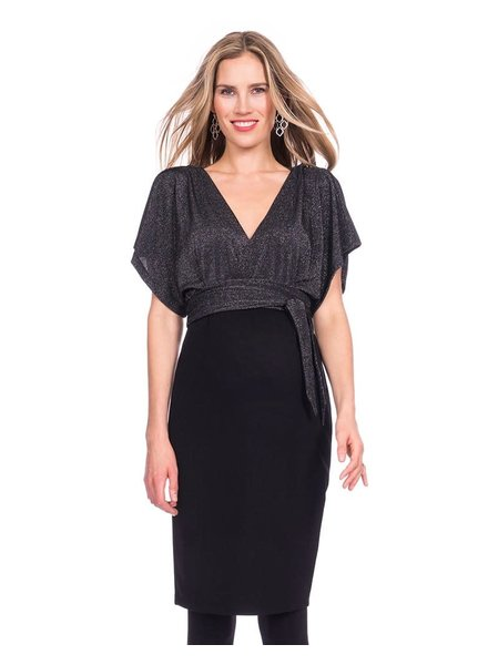 Seraphine Maternity 'Linette' V-Back Kimono Dress