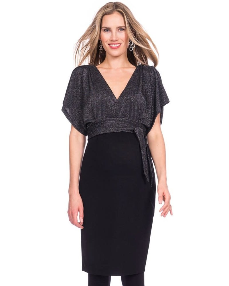Seraphine Maternity Seraphine Maternity 'Linette' V-Back Kimono Dress