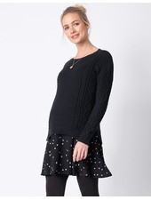 Seraphine Maternity 'Tiffany' 2-in-1 Cable Knit Nursing Tunic **FINAL SALE**