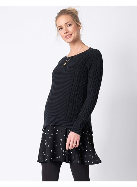 Seraphine Maternity 'Tiffany' 2-in-1 Cable Knit Nursing Tunic