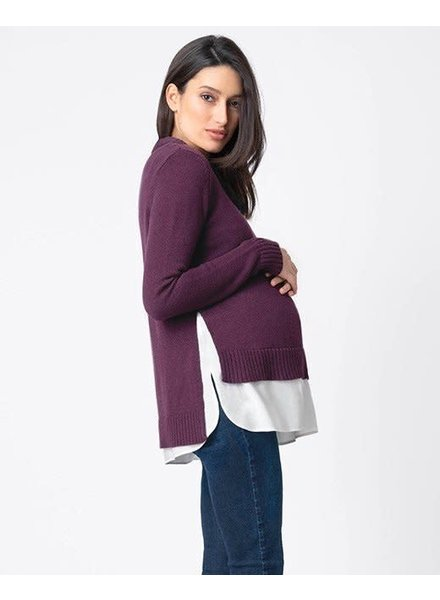 Seraphine Maternity 'Keisha' 2-in-1 Nursing Sweater (Medium) **FINAL SALE**