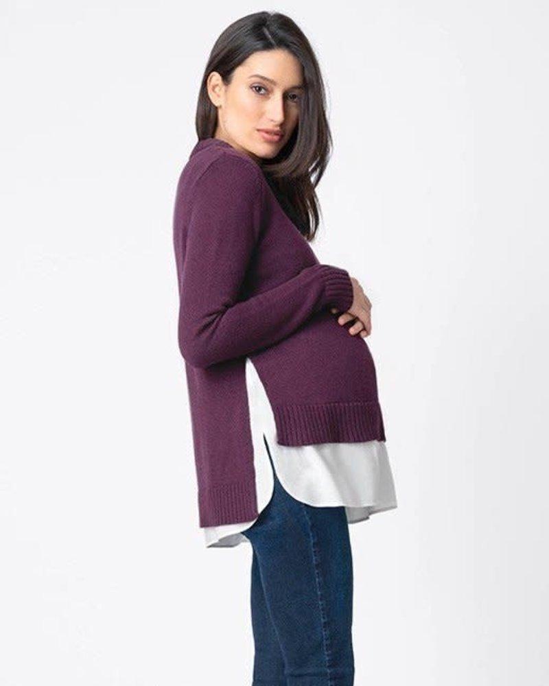 Seraphine Maternity Seraphine Maternity 'Keisha' 2-in-1 Nursing Sweater
