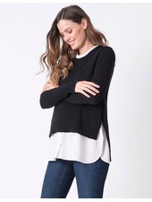 Seraphine Maternity 'Blaire' 2-in-1 Nursing Sweater (Medium) **FINAL SALE**