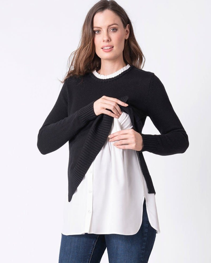 Seraphine Maternity Seraphine Maternity 'Blaire' 2-in-1 Nursing Sweater (Medium) **FINAL SALE**