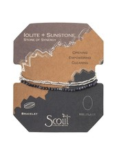 Scout Curated Wears Iolite & Sunstone Delicate Stone Wrap Bracelet/Necklace