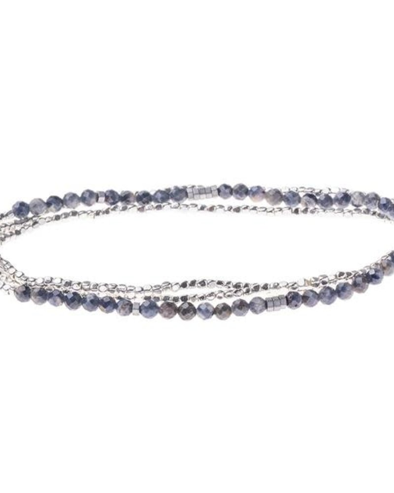 Scout Curated Wears Scout Iolite & Sunstone Delicate Stone Wrap Bracelet/Necklace