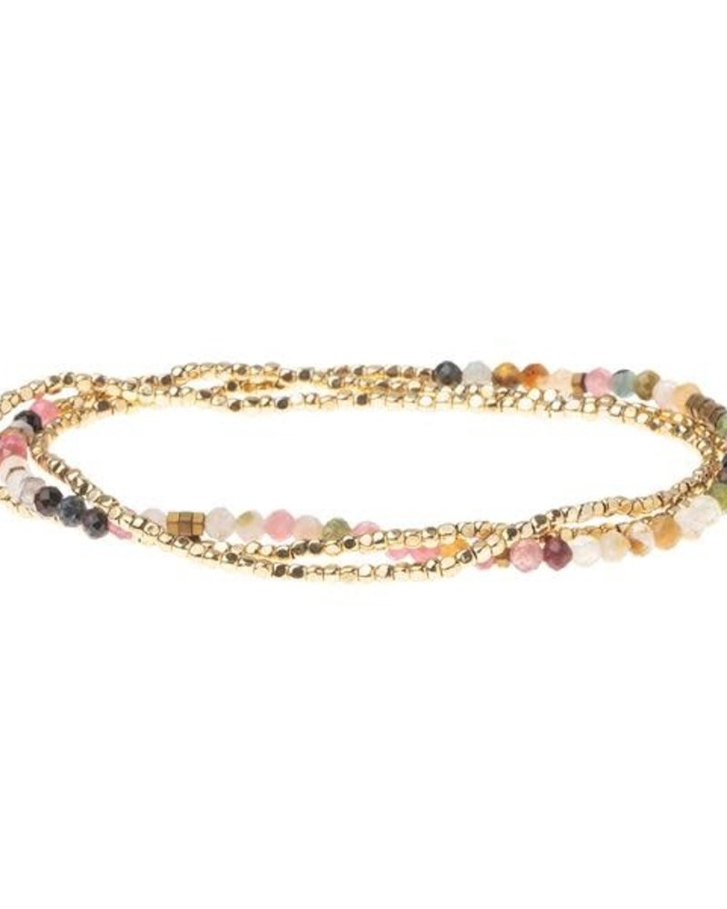 Scout Curated Wears Scout Tourmaline & Gold Delicate Stone Wrap Bracelet/Necklace