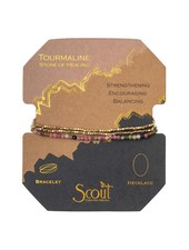 Scout Curated Wears Tourmaline & Gold Delicate Stone Wrap Bracelet/Necklace