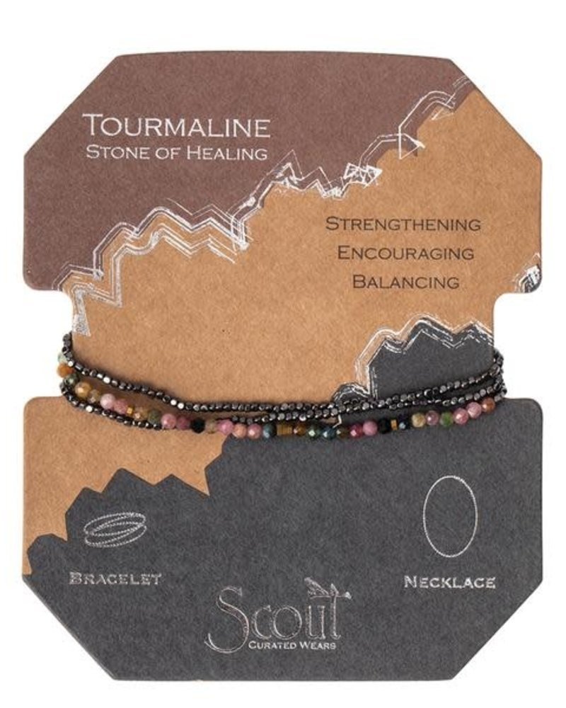 Scout Curated Wears Scout Tourmaline & Hematite Delicate Stone Wrap Bracelet/Necklace